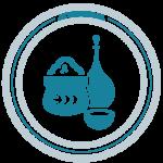 Ayurvedica-Panch-Karma-Kur-Piktogramm-Pasten-Öle